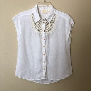 Maeve by Anthropologie Camp Linen Shirt